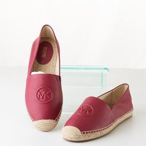 Michael Kors Dylyn Leather Slip On Espadrilles NWT